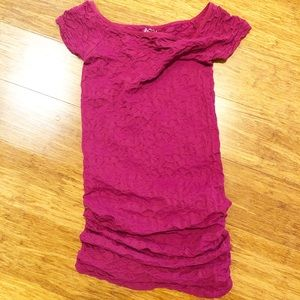 Free People Intimately magenta bodycon dress. Med